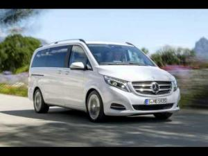 Ворсовые 3D коврики LUX в салон Mercedes-Benz V-klass W447 (Мерседес V-class 447) (2014-) с бортиком
