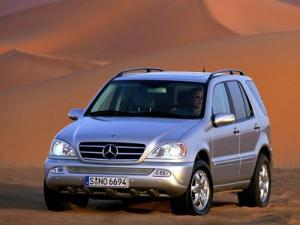 Ворсовые 3D коврики LUX в салон Mercedes-Benz M-klass W163 (Мерседес M-class W163) (1997-2005) с бортиком