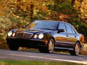 Ворсовые коврики LUX в салон Mercedes-Benz E-klass W210 (Мерседес Е-class W210) (1996-2002) с бортиком