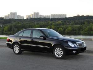 Ворсовые 3D коврики LUX в салон Mercedes-Benz E-klass W211 (Мерседес Е-class W211) (2003-2009) с бортиком
